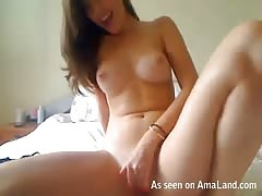 Awesome sexy ex-girlfriend rubbing her tight wet vagina Thumb