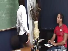 TS teacher blowing big cock in class Thumb
