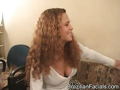 She came here only to get a massive Brazilian facial Thumb
