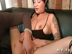 Busty amateur cougar hard double penetrated Thumb