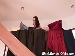 Teen Brunette takes a Thick Black Cock Thumb