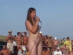 Russian Girl Dance at Nudist Beauty Contest Thumb