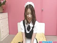 Cute cosplay maid Nao Kojima banging hard Thumb