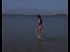 Nude Beach - Hot Skinny Brunette Teen Posing Thumb