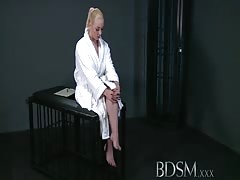 BDSM XXX Blonde sub gets tied up and has her holes filled Thumb