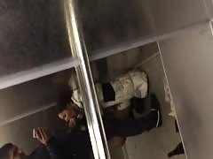 Impressive blowjob in the elevator performed by a young brunette Thumb