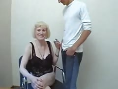 Blond Russian Granny meets NOT her Son Thumb