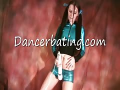Long-haired Dancerbating chick slowly rubs her snatch through the shorts Thumb