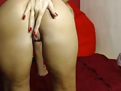 Blonde fingers her ass and pussy Thumb