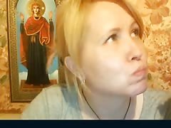 Playful Russian mommy is accurately undressing on the camera Thumb