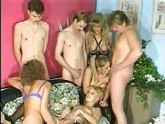 Amateur swingers group sex party with hot vintage babes Thumb