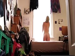 Girls Out West - Hairy Australian blonde toys her furry hole Thumb