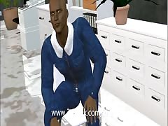 3D office Visit and Space couple fucks an anime dancer Thumb