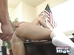Dirty blonde gets pounded from behind in the video by the Innocent High Thumb