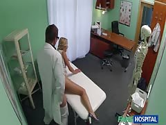 Elegant blonde is showing her slutty skills for a doctor Thumb