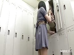 Kinky Japanese brunette is dressing her office suite Thumb