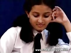 Horny Hot Indian PornStar Babe as School girl Squeezing Big Boobs and masturbating Part1 - indiansex Thumb