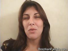 Facial load on a sexy face of a dirty-minded Brazilian girl Thumb