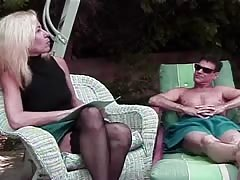 Impressive blonde is being seduced and fucked in her snatch Thumb