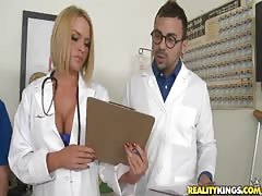 Three sexy Nurse babes want to try his massive black wiener Thumb