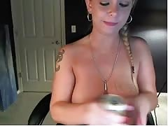 Webcams 2014 - Adorable Blonde Plays with Big Tits Thumb