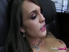 Beauty with deep throat showing her amazing oral skills! Thumb