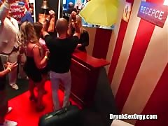 Sweetest drunk whores are sucking cocks in the night club Thumb