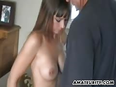 Busty amateur girlfriend homemade action with cum Thumb