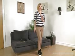 Awesome milf is slowly undressing on cam in the video by Fake Agent Thumb