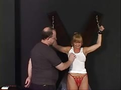 Whore with a decent rack endures a BDSM session at an audition Thumb