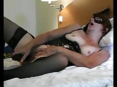 Lina in black with a big black dick Thumb