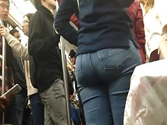 Juicy Latina Ass on Train Thumb