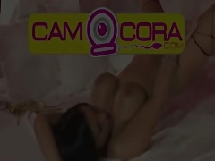 German Amateur Pornstar SEXY CORA in Threesome with TS Thumb