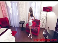 Skinny small Russian teen casting interview in Budapest! Thumb