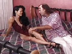Kinky brunette Asian milf is enjoying his massive wide sausage Thumb