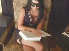 Masked cutie is wanking her boyfriend's hard dick in the close-up Thumb