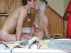 Bleached Russian cutie enjoys sex in the doggy style position! Thumb
