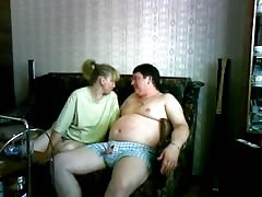 Chubby Russian milf performs a head for her fat hubby Thumb