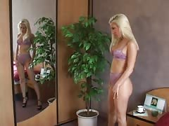 Sweetest blonde is being fucked by a dildo in the video by ALS Angels Thumb