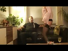 Blond German Milf - fucks her visit and cum on her nylons Thumb