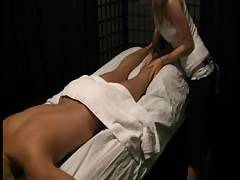indian babe giving full body massage to young boy happy ending Thumb
