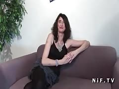 Anal casting couch of a french mature Thumb