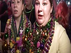 Mardi Gras Girls Flashing Thumb