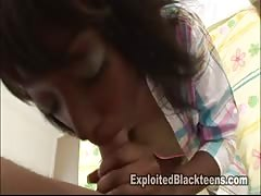 Passionate and sensual blowjob by a dirty-minded black teen Thumb