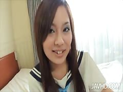 Sensual Asian pervert is playing with toys in Jav HD video Thumb