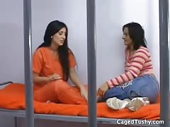 new girl licks experienced prisoner's pussy and ass Thumb