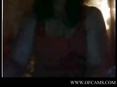 Dutch girl flashing and playing garter Thumb