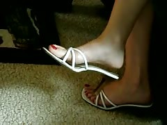 Candid Sexy Feet Shoeplay Dangle at Cocktail Party Thumb