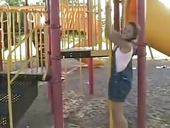 teen in the playground Thumb