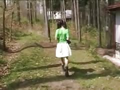 Outdoor - MFF Threesome - Pert Pigtail Teen Thumb